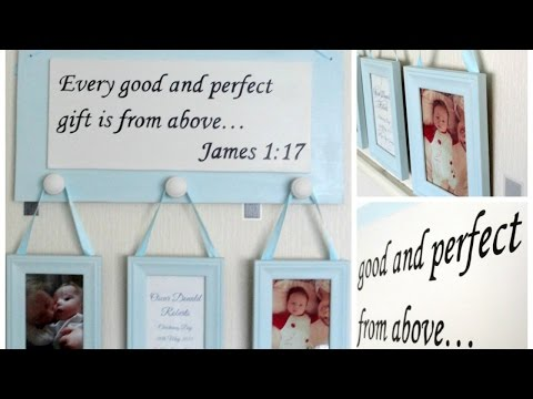Create a beautiful sign for a baby boy - DIY- Guidecentral