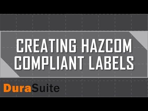 Create HCS HazCom 2012 Compliant Labels with DuraSuite