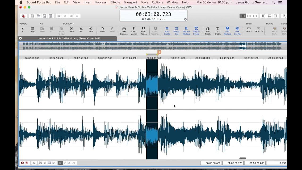 Potente y completo editor de audio multiformato