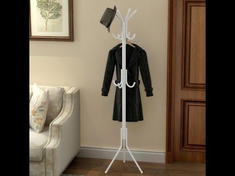 Casa 12 Hook Hanging Pole Rack Clothes Hanger Coat stand Storage