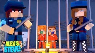 Minecraft Life Of Alex & Steve   Baby Alex & Baby Steve Go To Prison!!!