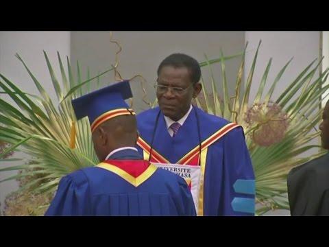 Guinée Equatoriale, Le Président T. O. Nguema Mbasogo distingué Docteur Honoris Causa