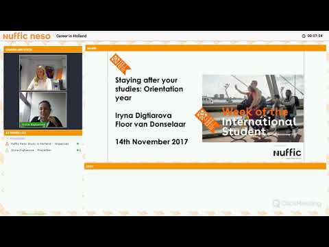 career in Holland webinar (14 November 2017)