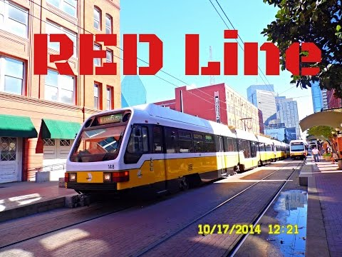 "Dallas DART: ""SUPER Light Rail"" - RED Line to Parker Road... FULL RIDE!"