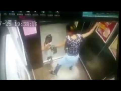 Girl Holding Hands With The Elevator Door | Warning Parents About This