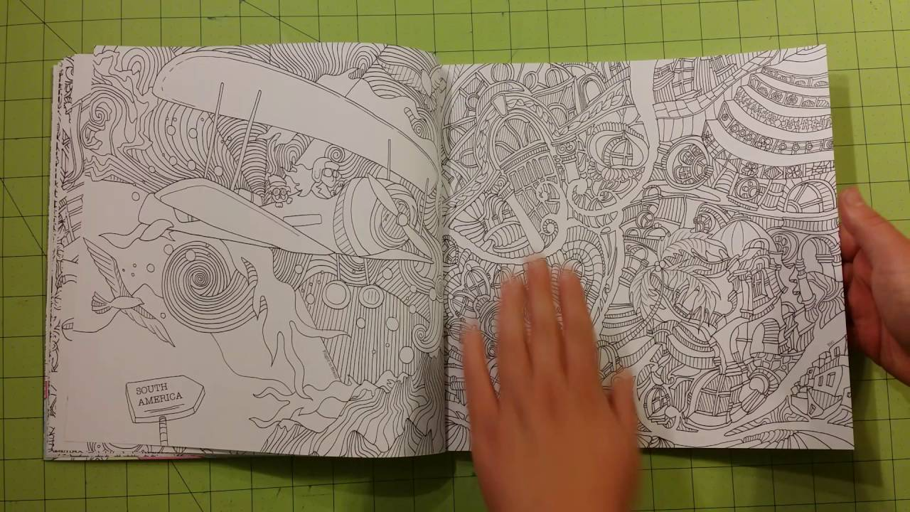 The magical journey coloring adult book review flip through Lizzie Mary Cullen YouTube