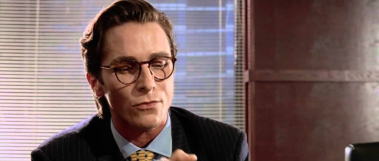 American Psycho - Business Card scene [HD - 720p] - YouTube