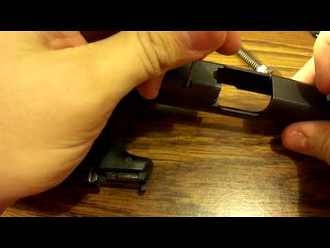 M&P SHIELD 9/.40 firing pin & extractor disassembly