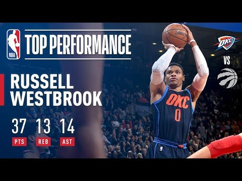 Russell Westbrook Records His 5th Straight TRIPLE DOUBLE in Toronto
