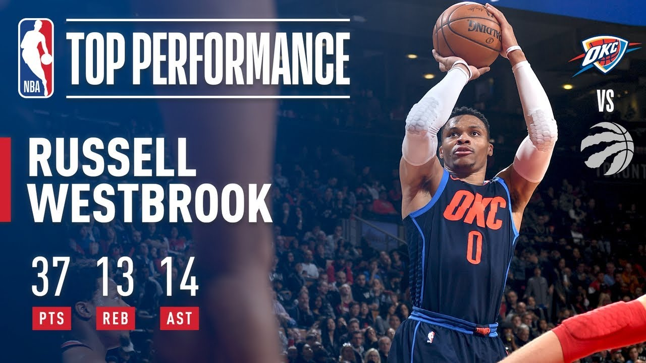 4b8c646f827 Russell Westbrook Records His 5th Straight TRIPLE DOUBLE in Toronto ...