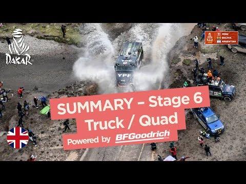 Summary - Truck/Quad/SxS - Stage 6 (Arequipa / La Paz) - Dakar 2018