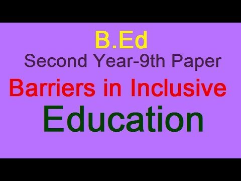barriers to achieving effective inclusive education Inclusion has been advocated as the most effective  building an inclusive society and achieving education  creating environments without physical barriers,.