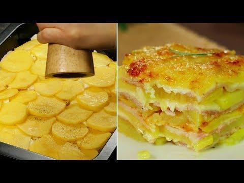 Un deliciu nemaipomenit din cartofi, care se prepară extrem de rapid - cartofi gratinați!| SavurosTV