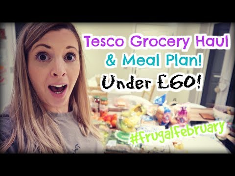 Tesco Grocery Haul and Family meal plan under £60