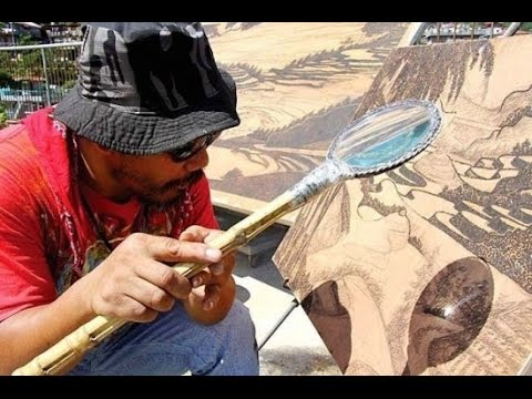 Philippines Based Artist Harnesses the Power of the Sun to Create Amazing Pyrography Masterpieces