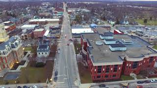 Downtown Noblesville Indiana Drone Footage