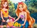 Rapunzel y su amiga Belle: vamos andar en bicicleta ? videos y juegos DISNEY