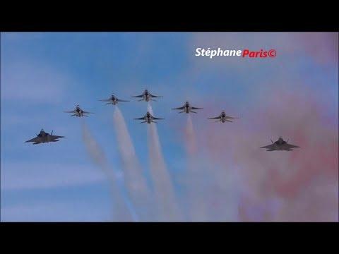 F22 raptor & Thunderbirds in Paris/ Bastille Day 14/07/2017