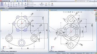 SolidWorks Exercises for Beginners - 3 | SolidWorks Sketch Practice Tutorial