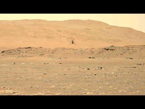 NASA发布创新号直升机首张火星空拍彩照 (视频/图)