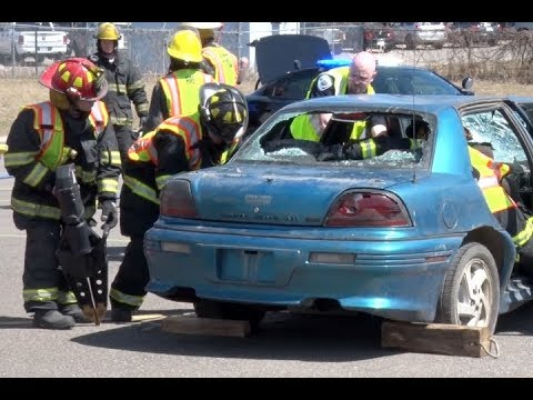Pequot Lakes Students Experience Mock Car Crash