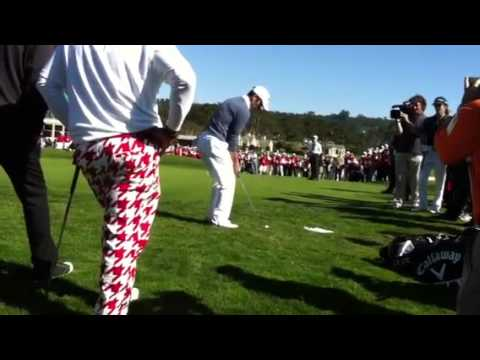 Lucas Black chip in for the win at Pebble Beach