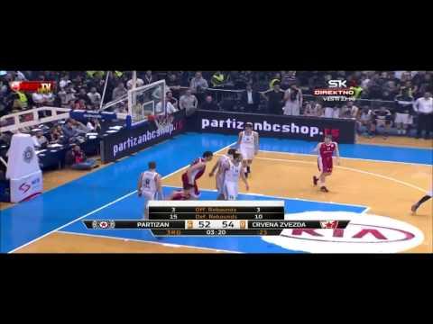 Partizan - Crvena zvezda Telekom | Od koša do koša Mitrović [Plejof ABA lige, 19.04.2015]