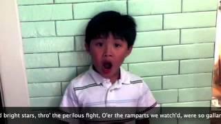 8 year old Asian Justin Bieber Kid Nails the National anthem Thumbnail