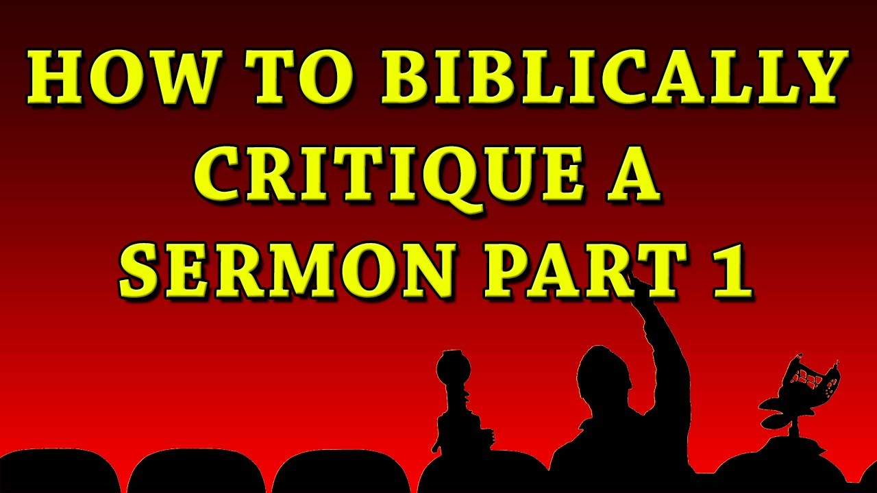 F4F | How to Biblically Critique a Sermon Part 1