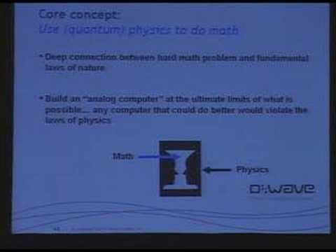 D:Wave's Dr. Geordie Rose quantum singularity computer