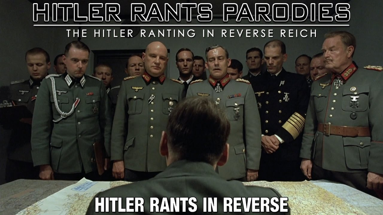Hitler rants in reverse
