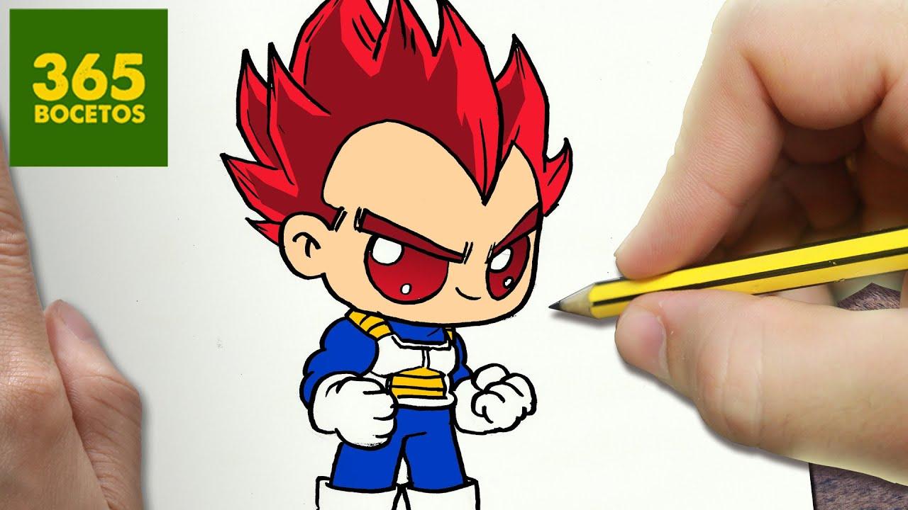 Como Dibujar Vegeta Dios Kawaii Paso A Paso Dibujos Kawaii