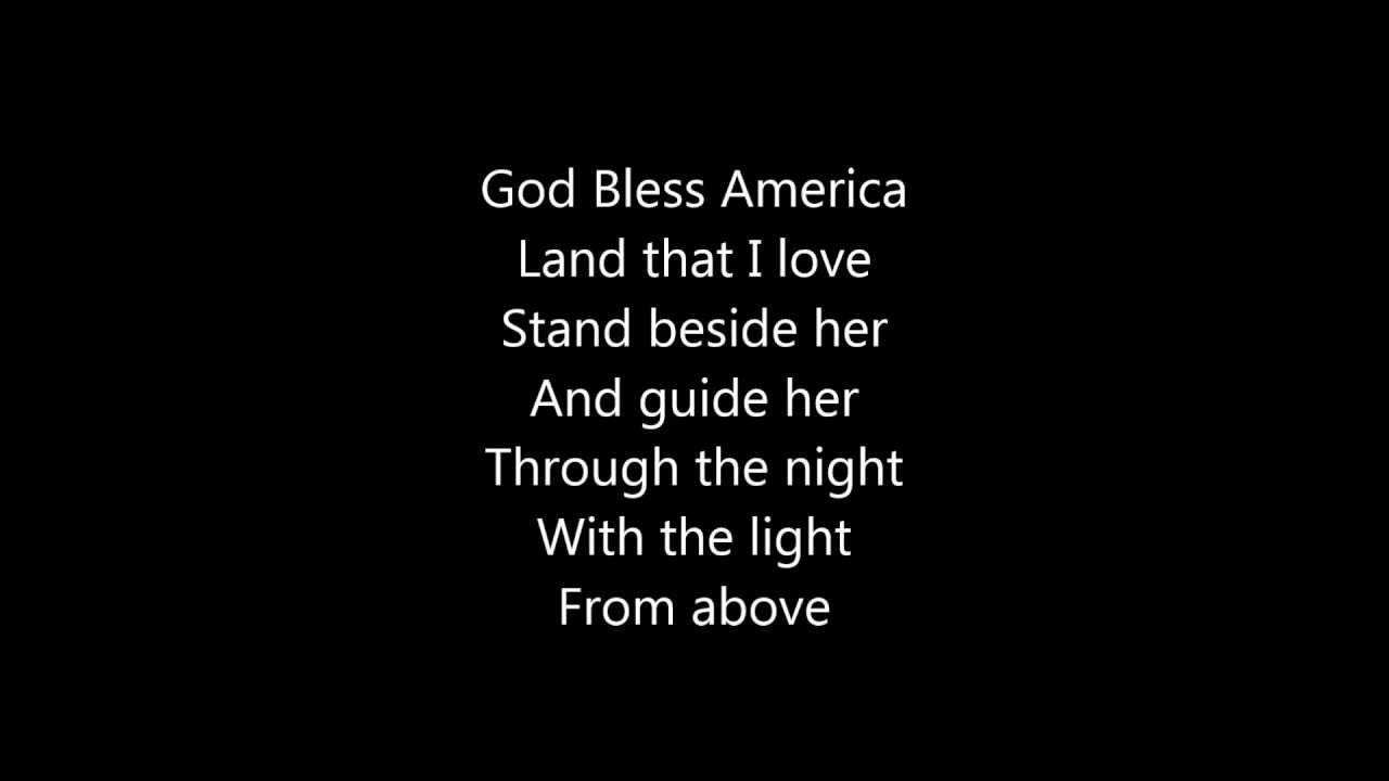 Words to god bless america lyrics