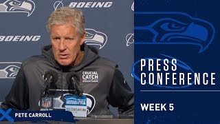 Seahawks Head Coach Pete Carroll Postgame Press Conference vs Rams
