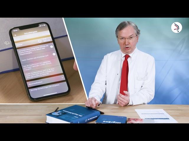 Dateneingabe und Analyse - Die Migräne-App