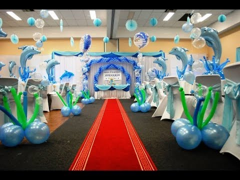 S s event specialists balloon decorations birthday for Balloon decoration ideas youtube