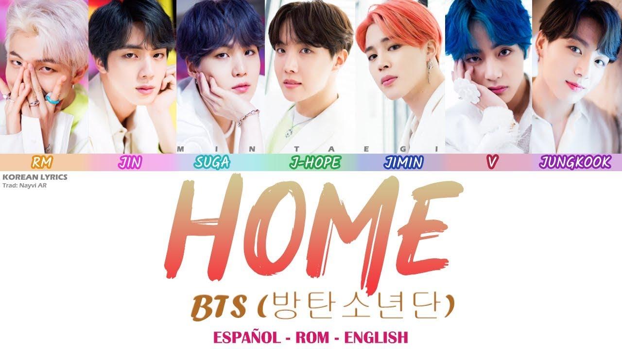Bts Home Lyrics Español Rom English Youtube