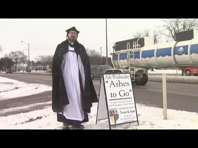 Priest offers ashes to go