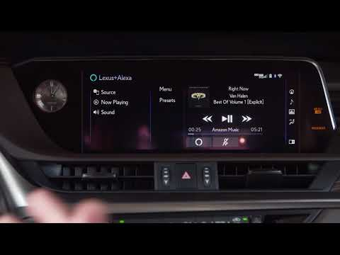 Lexus X Amazon Alexa In The 2019 Lexus ES