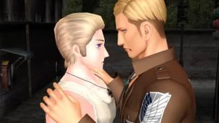[Hetalia/SnK MMD] Junjou Romantica Yaoi kiss (Erwin, Ludwig (Germany)