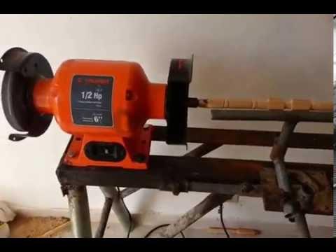 ((5))   EASY LATHE GRINDER /Homemade Lathe machine
