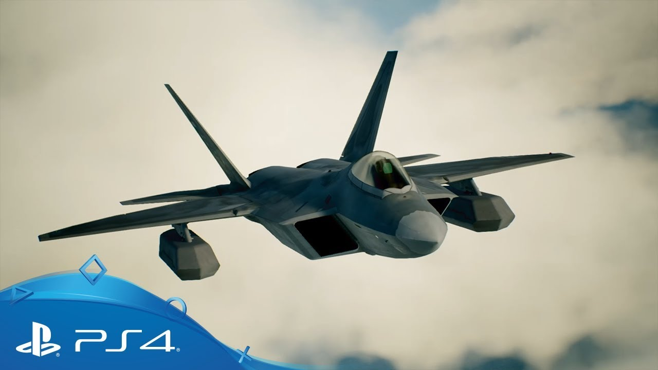 Ace Combat 7 F 22a Raptor Aircraft Introduction Trailer Ps4 Youtube