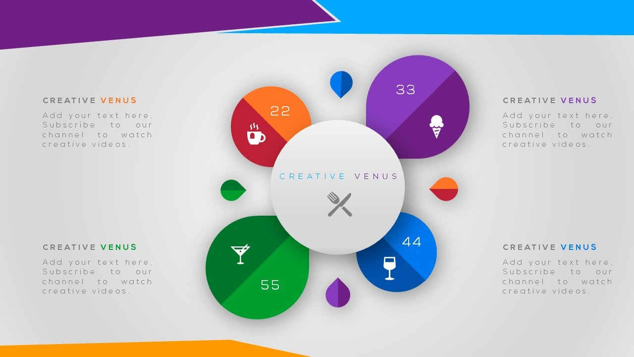 Creative Workflow, Process, Infographic Element Design in Microsoft Presentation PowerPoint PPT