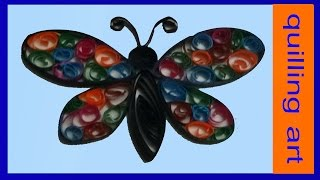quilling butterfly-made with paper strips