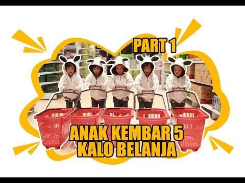HEBOH!!!ANAK KEMBAR 5 BELANJA DI TRANSMART CARREFOUR part 1
