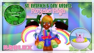 ROBLOX ROYALE HIGH | ST. PATRICK'S DAY UPDATE RELEASED! NEW ACCESSORIES, SPECIAL EVENT & MORE!