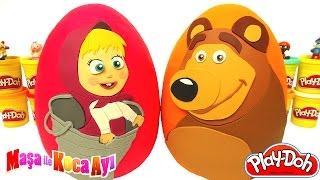 Maşa ile Koca Ayı 2 Sürpriz Yumurta Oyun Hamuru -  Maşa Oyuncakları MLP Şirinler LPS Cicibiciler