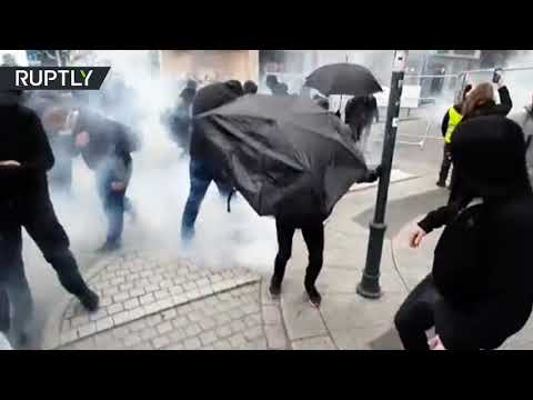 Water cannons and tear gas: Yellow Vests clash with police in Rennes