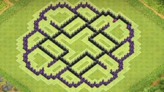 Clash Of Clans - TH9 Town Hall 9 Farming Base (After Halloween Update/4 Mortars) - 2014