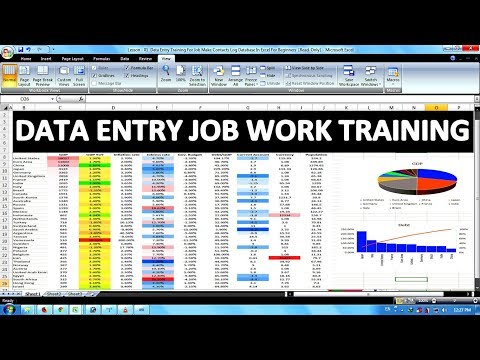 Data Entry Office Work Training For Job In Excel In Hindi Part 02